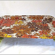 Retro Wild Mod Flowered Lap Tray
