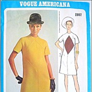 Vintage Retro 1968 Vogue Americana Pattern Bill Blass # 1907 Sz 14
