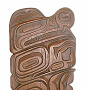 West Coast Native Style Cast Plaque Signed