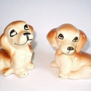 2 Vintage Dachshund Dog Figurines Puppy