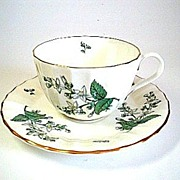 Royal Worcester Bone China Valencia Tea Cup & Saucer
