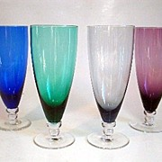 4 Elegant Multi Colored Glasses