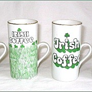 4 Vintage Enesco Irish Coffee Mugs in Box