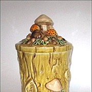 Retro Lefton Mushroom Forest Cookie Jar