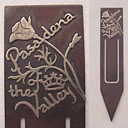 Heintz Bronze & Sterling Souvenir Bookmark - Pasadena Rose Parade