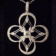 Edwardian Platinum 18Kt Gold & 1/2Ct Total Diamond Necklace