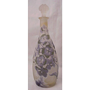 Galle Cameo Glass Perfume With Original Stopper