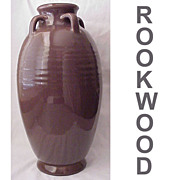 SALE Hand Thrown Rookwood Pottery Floor Vase Dated 1917