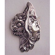 Unger Bros. Sterling Art Nouveau Pin Circa 1905