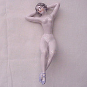 D & K (Dressel & Kister) Porcelain Bathing Beauty on a Swing - Circa 1911