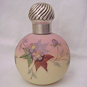 Thomas Webb Queens Burmese Ware with Prunus Blossom Pattern Cologne Bottle - Dated 1886