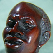 Figural Carved 19th Century Tobacco Pipe