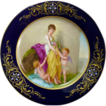 Antique Hand Painted Royal Vienna Portrait Plate Signed