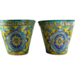 A Pair of Antique Spanish Talavera Jardinieres C1900