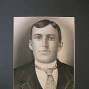 Edwardian Gentleman's Portrait Artist Finished Photo Gravure