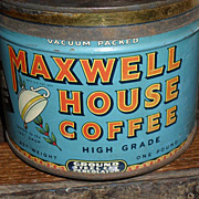SALE c 1930 Maxwell House Coffee Tin