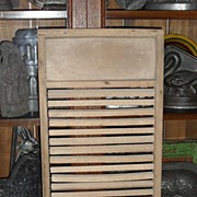 SALE Uncommon Old Wash Scrub  Board - Rectangular Spinning Rollers