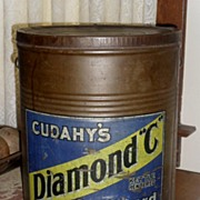 SALE Cudahy's Diamond C Leaf Lard Tin - Early 1900s