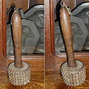 Early Yellowware Meat Tenderizer  Dated Dec. 25 1877