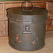 SALE Tin Flat Bottom Pantry Box - Civil War Era