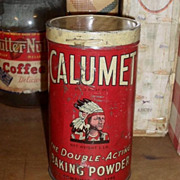 SALE c 1920 Calumet Baking Powder Tin - 1 lb
