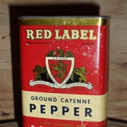 S.S. Pierce Cayenne Pepper Spice Tin - Boston