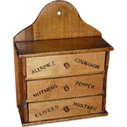 1890s Country Spice Box - 3 Divided Drawers