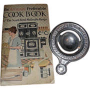 SALE Cook Book & Tin Advertising Egg Separator - South Bend Malleable Range