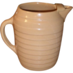 c 1920 Yellowware Pitcher with Ice Lip