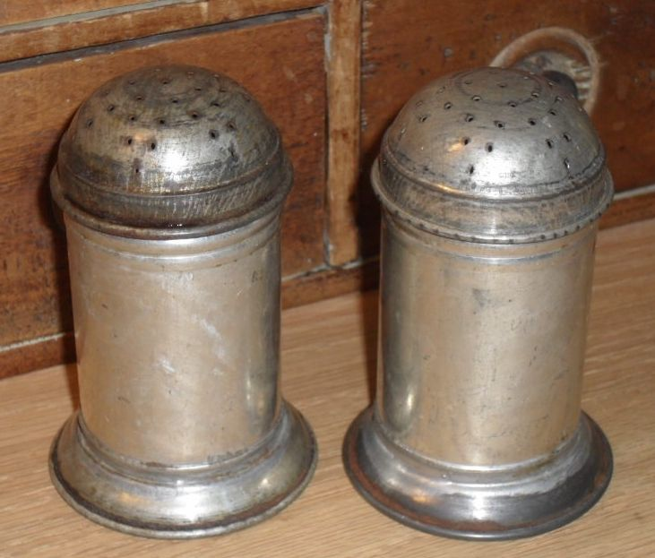 c 1900 Small Tin Spice Shakers