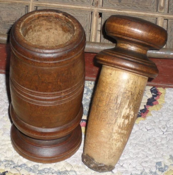 c. 1890 Wooden Spice Nutmeg  Grinder / Grater