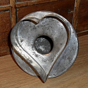 SALE Tin Heart Shaped Bakery Cookie Cake Cutter - 19th C  Thomas Mills Philadelphia