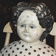 SALE 1858 Paper Mache Doll - Ludwig Greiner