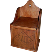SALE c 1900 Wooden Salt Box