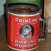 SALE PRINCINE Baking Powder Advertising Tin - c.1910s