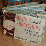 1930s Estate Stove Cook Book - Recipes and Suggestions
