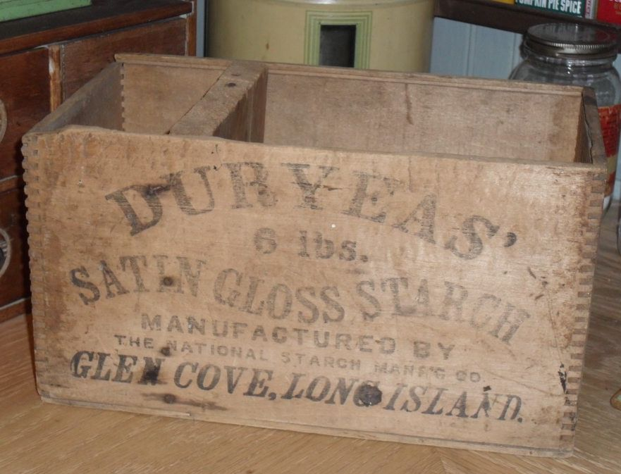 Wooden DURYEAS Box - Crate Satin Gloss Starch - Long Island