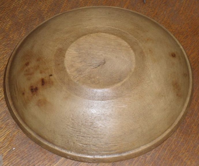Beehive Turned Wooden Dough - Butter Bowl c. 1890s
