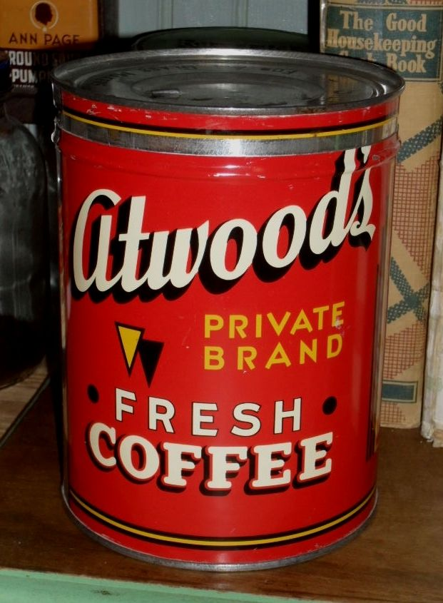 Atwood's Coffee Tin - c. 1940 - 2 lb.