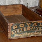 SALE Royal Yeast Cakes Wooden Crate / Box - c 1900