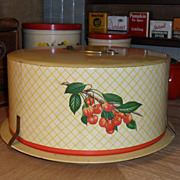 Decoware Cherries Cake Saver / Taker - 1940s