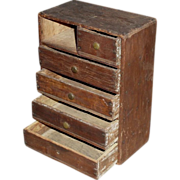 SALE Miniature Chest of Drawers - Doll Dresser - Made of Cigar Boxes