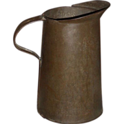 Primitive Tin Measure / Pitcher  Gallon