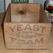 Yeast Foam Advertising Box Crate - Wooden