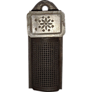 SALE Ornate Tin Nutmeg Grater - 1880s