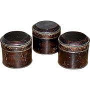 3 Japanned Tin Spice Boxes - 1890s