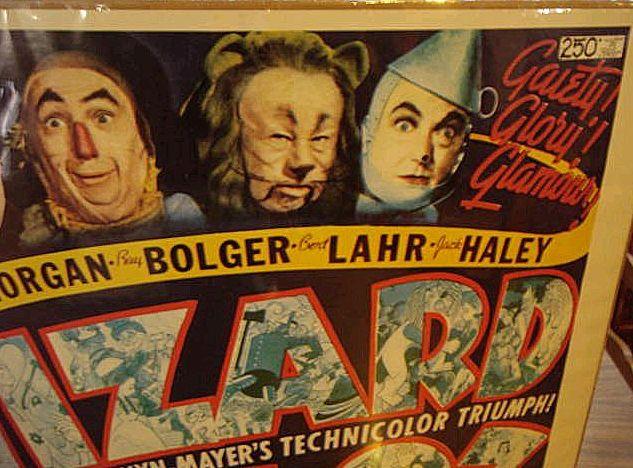 original 1939 wizard of oz movie poster from rlreproshop