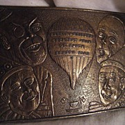 Barnum & Bailey 1908 Brass Belt Buckle