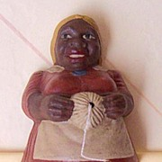 1941 Signed Ethnic Black Lady String Holder