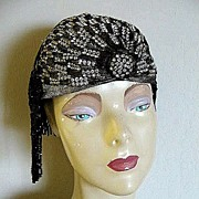 Dramatic 1920's-Type Flapper Cloche Hat